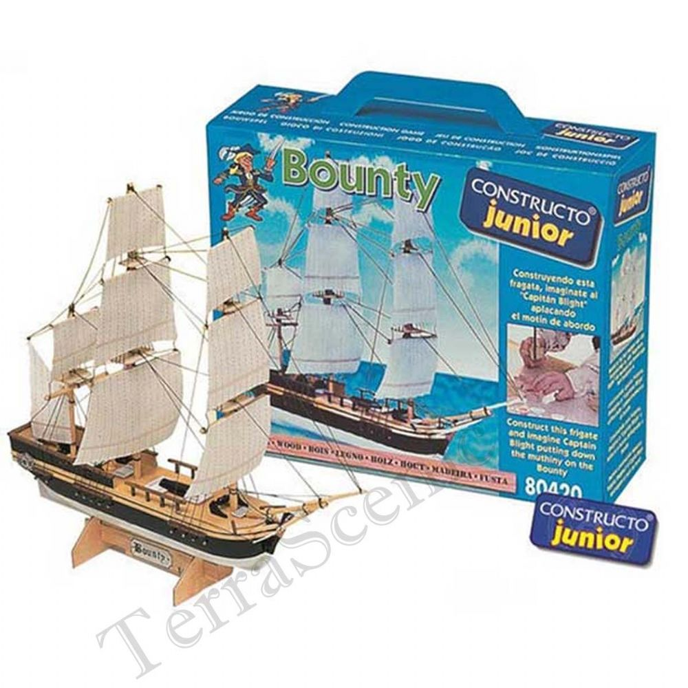Wooden Model Ship Kit Constructo Junior Bounty